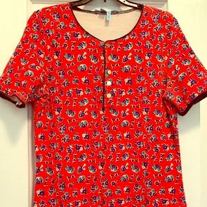 Draper James Floral Print Dress